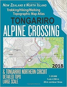 Tongariro Alpine Crossing & Tongariro Northern Circuit Detailed Topo on