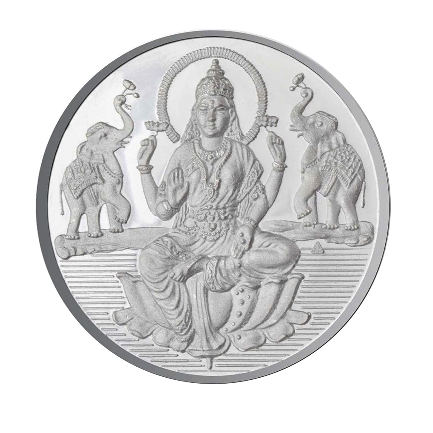 Sri Jagdamba Pearls 20 Grams Lakshmi Silver Coin 999 Purity