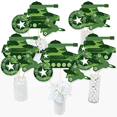 Camo Hero - Army Military Camouflage Party Centerpiece Sticks - Table Toppers - Set of 15: Toys & Games