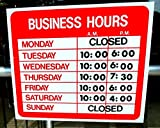 Business Hours Sign Store Window Vinyl Decal Sticker Open Closed New