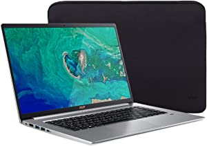 "Acer Swift 5 SF515 Touchscreen Laptop, 15.6"" IPS FHD Thin and Light PC, Core i7 up to 4.60 GHz, 16GB RAM, 512GB PCIe SSD, Backlit KB, FP Reader, USB-C/DP, HDMI, Mytrix Laptop Sleeve, Win 10"