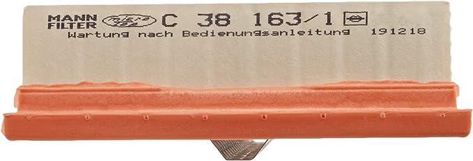 Mann Filter C 38 163/1 Filtro de Aire: Amazon.es: Coche y moto
