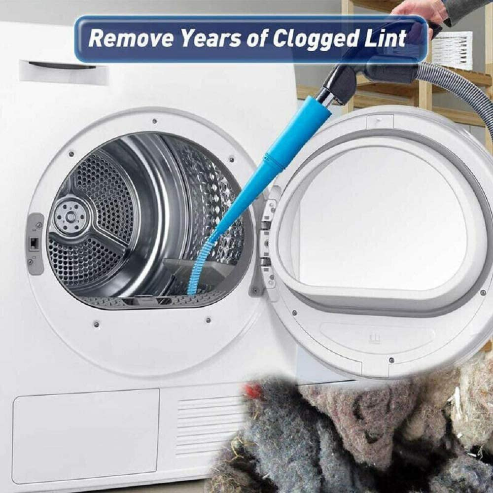 elimina la limpieza del limpiador de polvo de pelusa para lavadora y secadora Manguera de aspiraci/ón de ventilaci/ón 1