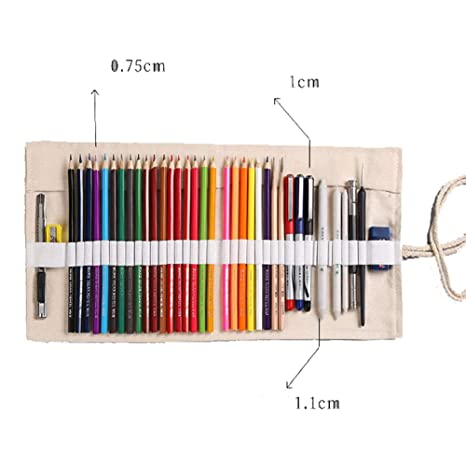 Astucci per matite Bolsa de lápiz enrollada de lona floral ...