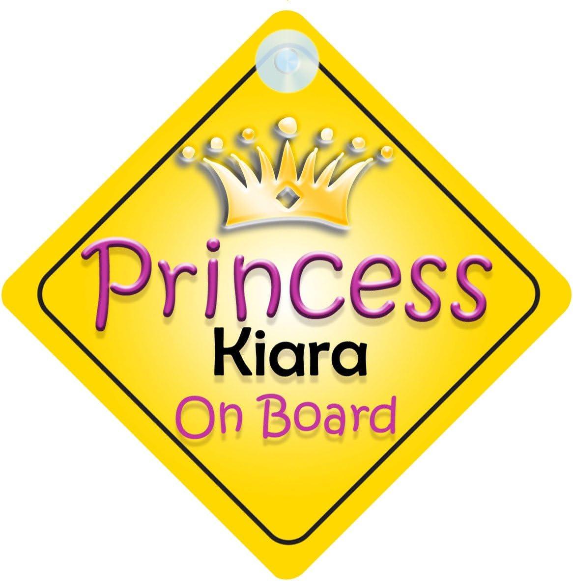 Princess Kiara on Board Girl segnale Auto bambino//Baby Gift//present 002