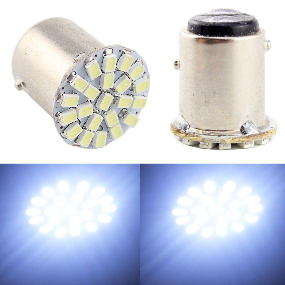 (Pack of 4) Super Bright White 1156 1206 22-SMD 6000K Car LED Bulbs For Car Rear Turn Signal lights Interior RV Camper DC 12V Ladeng Led