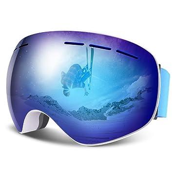 7064a98b08ed1e HAUEA Lunettes de Ski, Masque de Ski Double Lentille Anti-Buée, Anti ...