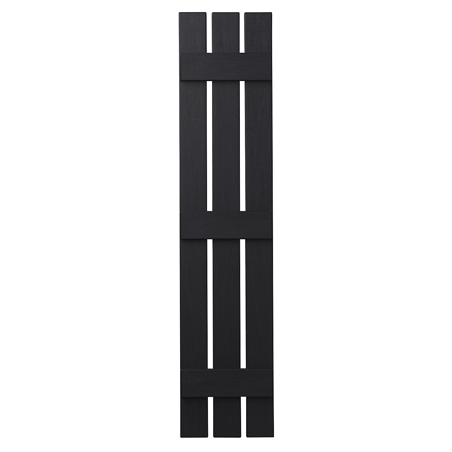 Ply Gem Shutters and Accents VIN301263 33 3 Open Board and Batten Shutter, Black