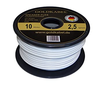 Oro Speaker Cable de Flex blanco Mini Bobina de 2.5 mm², ...