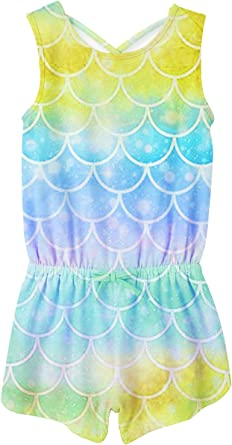 Amazon.com: Nirovien Toddler Girls Rompers Baby Tie Dye Crossback Jumpsuits  Striped Clothes Size 2-6Y: Clothing
