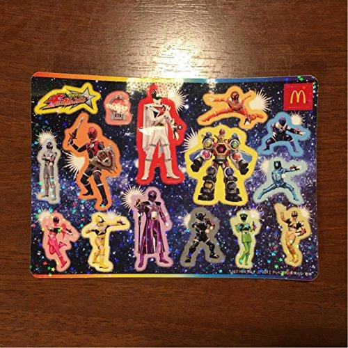 82♪有宇宙戦隊 キュウレンジャー シールステッカー/グッズ/おもちゃ 検) ハッピーセット ご褒美 シール 男の子