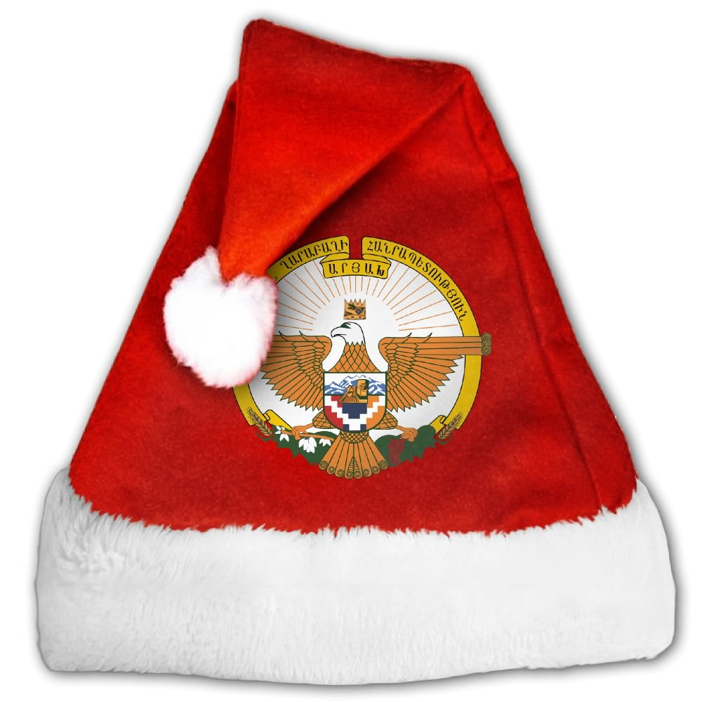 ODLS7 Coat Of Arms Of Artsakh Christmas Gifts Hats Santa Hats Fashion Holiday Home Party Decorations For Kids Adult