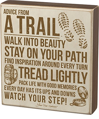 Box Sign - Advice From Trail (Water Ski Wood Sign)