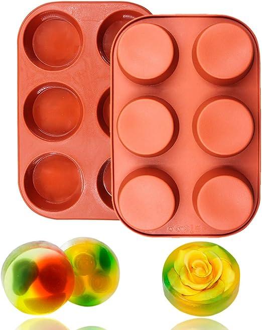 6 cavidades molde de silicona redonda para muffin Cupcake, pan ...