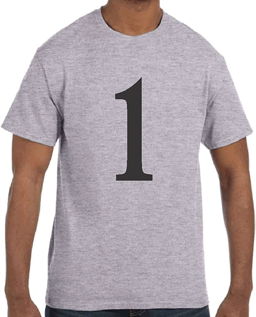 T-Shirt Large No 4 Benguit 12 Inch Numbered Sport Grey Heavy Cotton 5.3 Oz
