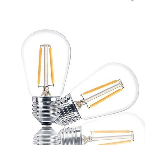 Svater 2 Piezas Bombillas de Filamento LED E27 Lampara Retro Luces Edison 2W Equivalente 20W Bombillo