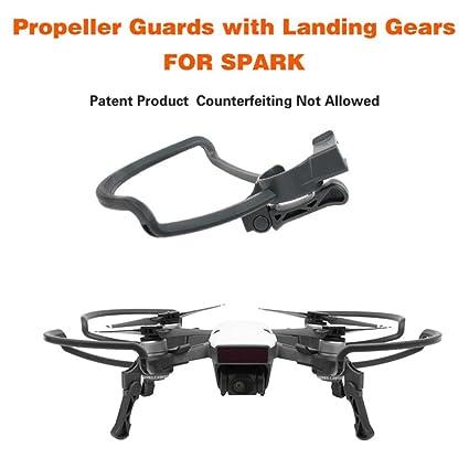 DJI Spark Drone Propellers Guards + prolongar Landing patas Gear ...