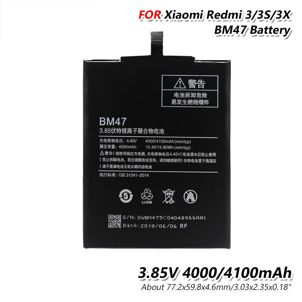 Amazon.com: YCDC - Batería de repuesto para Xiaomi Redmi 3 ...