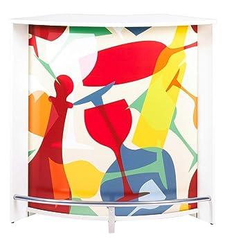 SIMMOB snack106bl942 Vasos 942 Mueble Bar/Comptoir de Cocina/Mueble de Acoplamiento Madera Blanco 53,3 x 106,9 X 104,8 cm: Amazon.es: Hogar