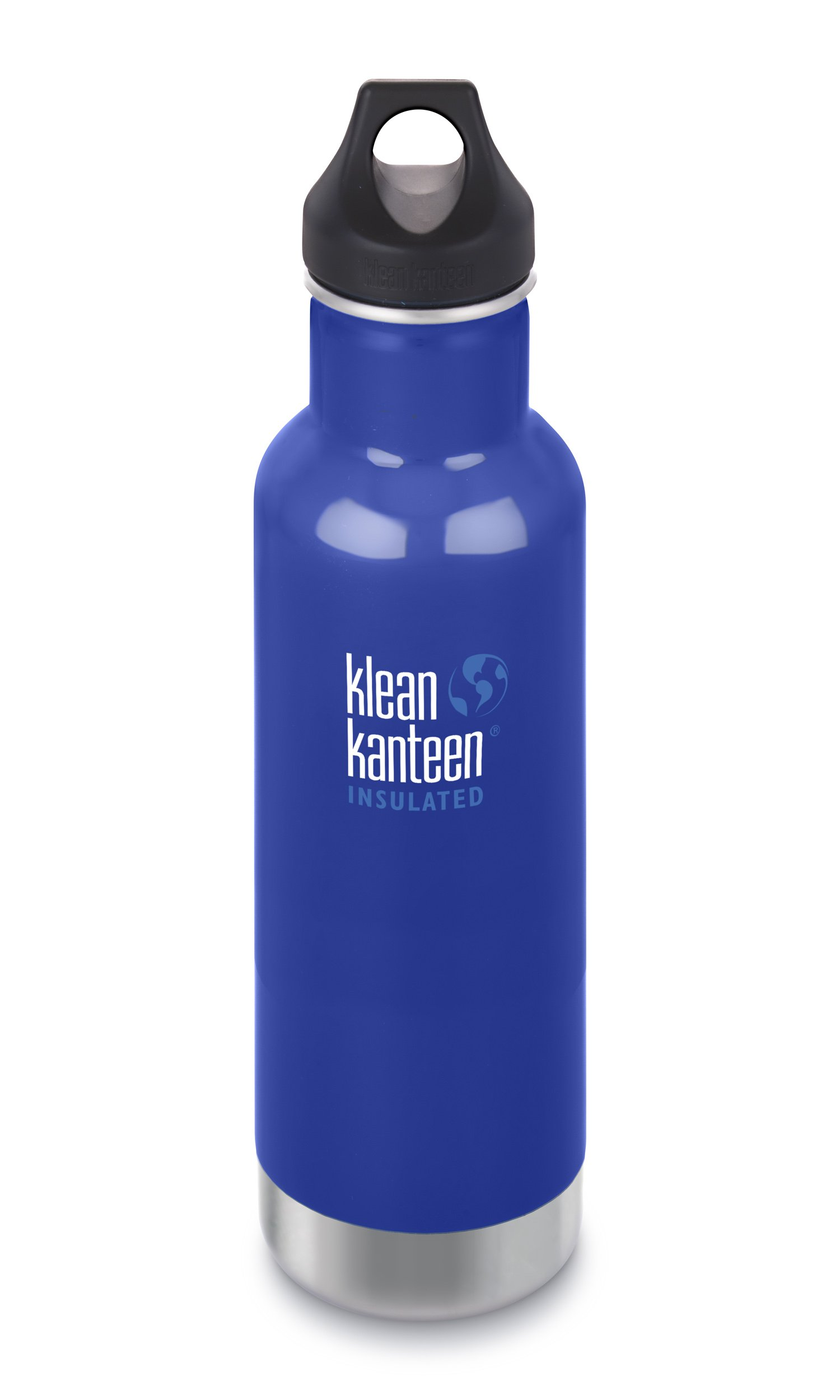 Klean Kanteen Classic Insulated Stainless Steel Water Bottle with Klean Coat and Leak Proof Loop Cap - 20oz - Coastal Waters