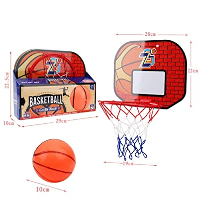 Dacyflower Mini Basketball Hoop Set, Hanging Basketball Hoop with PVC Basketball and Pump, for Children Indoor Basketball Games, Toy Basketball Hoops & Goals: Sports & Outdoors