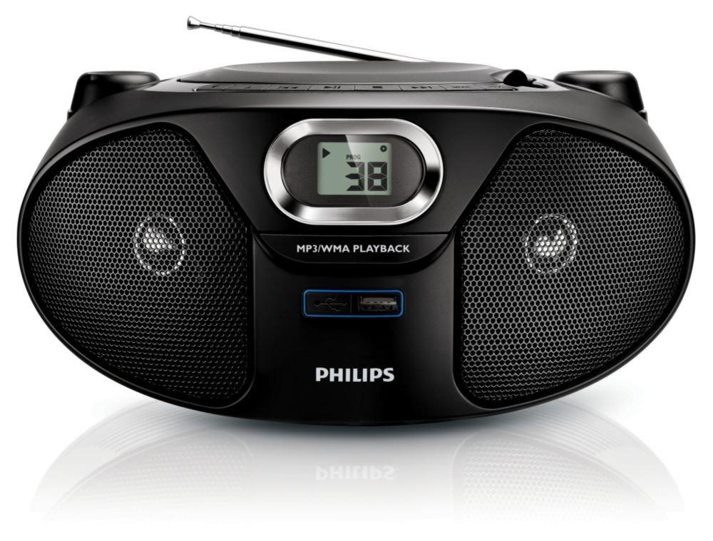 Philips AZ385/12 - Lector y grabador de CD portátil (2 W ...
