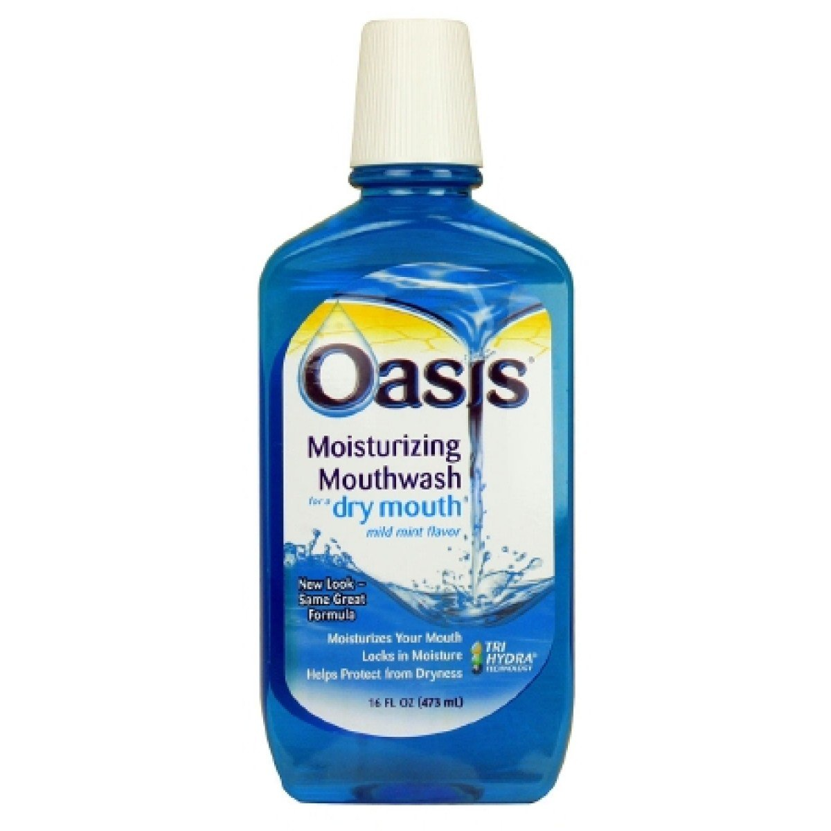 Oasis Moisturizing Mouthwash For Dry Mouth Mild Mint, Mild Mint - 16 oz (Pack of 4) by Emerson