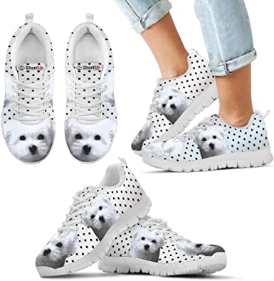 Luto Home Pug Dog Black Dots Print Running Shoes for Kids-Casual Comfortable Sneakers Running Shoes