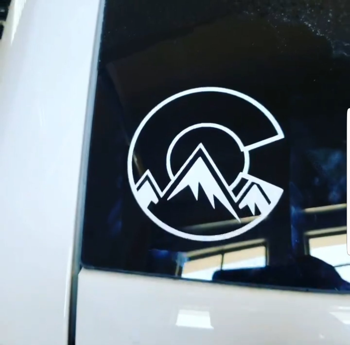 Bumper /& Car Window Sticker for Cars Trucks and More DCL1197 4.75 x 5 inches Fanbuild Colorado Rocky Mountains White Vinyl Decal Laptops