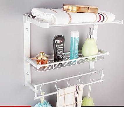 YUE carril de toalla aluminio espacio/Baño doblado toallero-K
