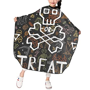 Happy Halloween With Doodle Barber Cape Hair Cutting