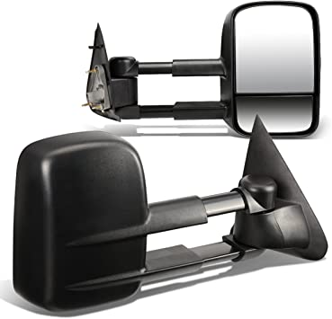For 97-04 Ford F150 F250 Side View Towing Tow Mirrors Manual Non-Heated Pair Set