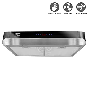 BV Stainless Steel 30 Inch Under Cabinet Kitchen Range Hood 400 CFM With  LED Lights