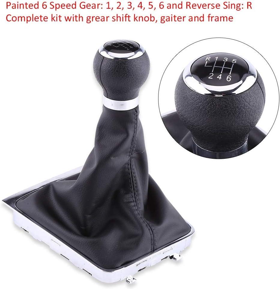 Gorgeri 6-Gang Auto Schalthebel Stick Gaiter Boot Kit Schalthebel Boot Gear Schaltknauf Boot Gearstick Gaiter Kit