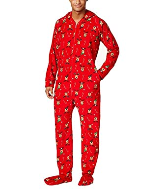 Family Pajamas Men s Holiday One-Piece Jumpsuit Onesie at Amazon ... 1b012c91d