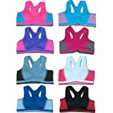 a2087348f0eff Women 6 Pack Seamless Multi Styles Matching Sports Bras   Bottoms (One  Size