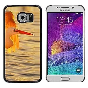 Paccase / SLIM PC / Aliminium Casa Carcasa Funda Case Cover - Stork Ocean Sun Sunset Summer - Samsung Galaxy S6 EDGE SM-G925