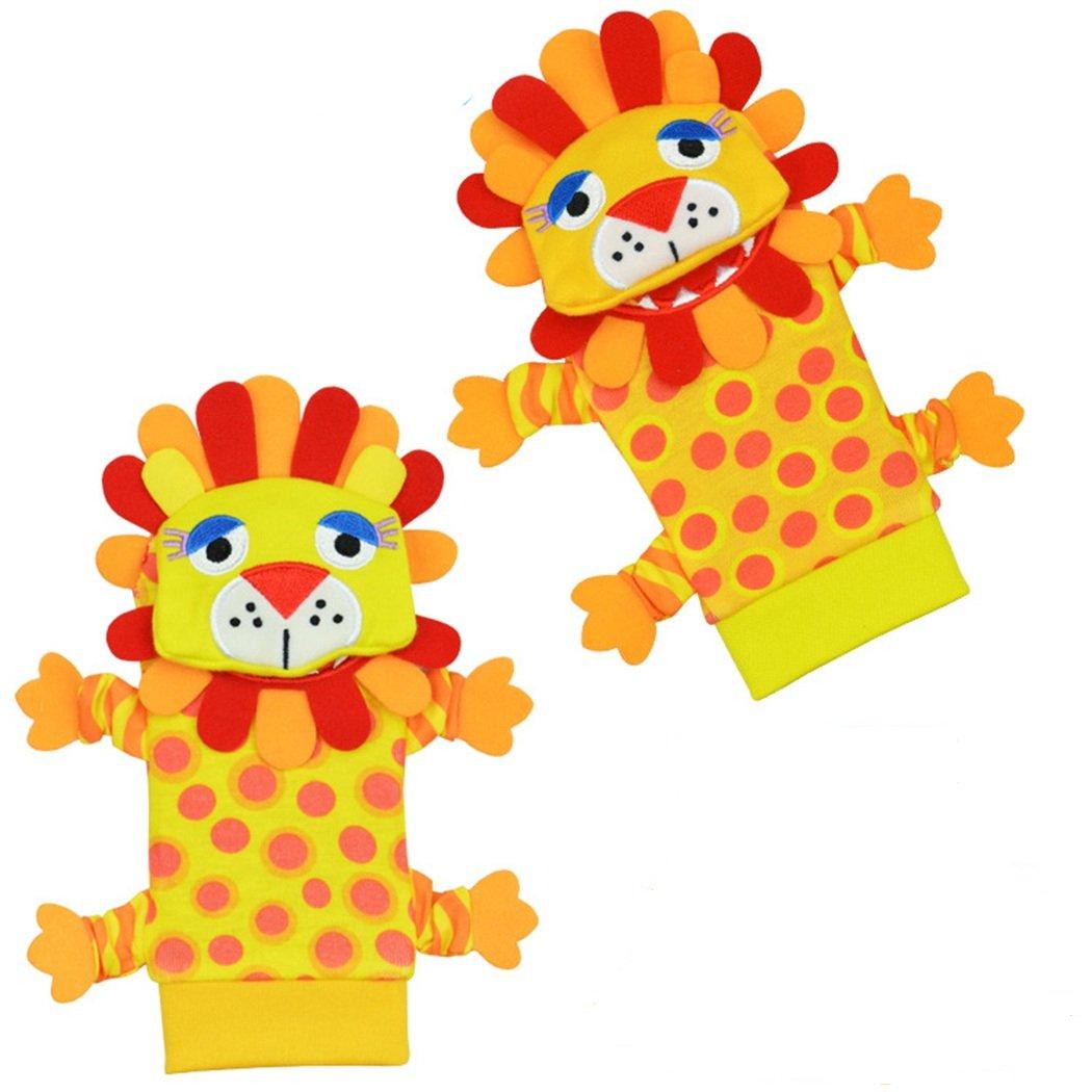 babyprice Baby Rattles Jingle Socks withサウンド動物ライオン装飾明るい色1ペア   B06XW8CPQJ