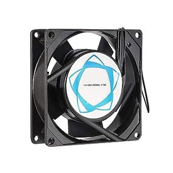 110V 120V 220V 240V Ball 92mm x 92mm x 25mm Cooling Fan With Grill Screws