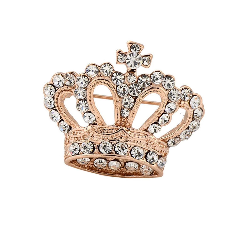 Boho Victoria Reina Del Rey De Cristal Corona Broche De Navidad De