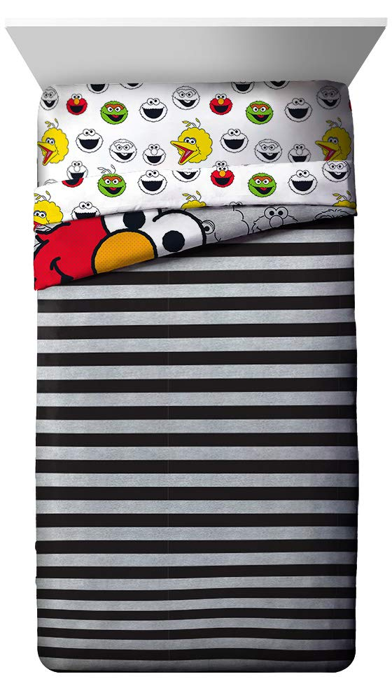Jay Franco Sesame Street Hip Elmo 4 Piece Twin Bed Set - Includes Reversible Comforter & Sheet Set - Super Soft Fade Resistant Polyester - (Official Product) by Jay Franco (Image #4)