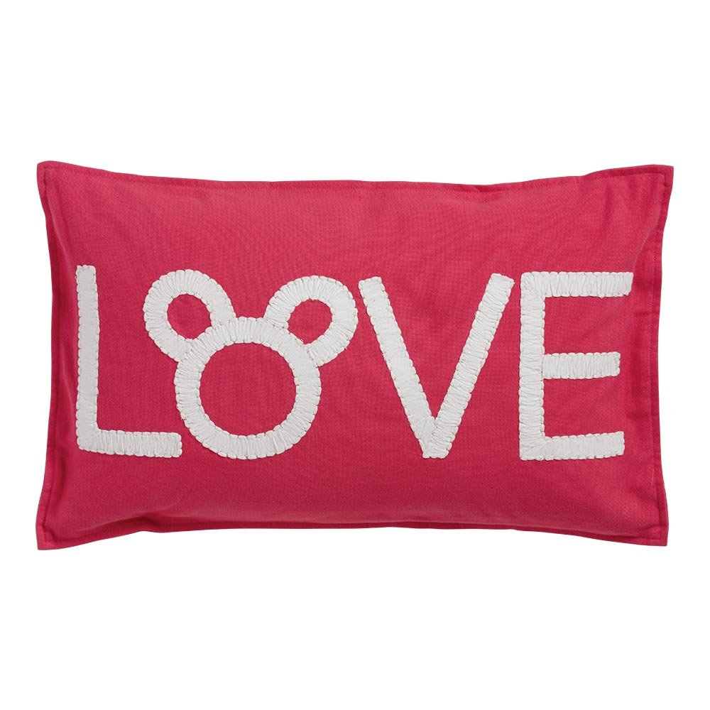 Ethan Allen | Disney Mickey Mouse Love Pillow, Minnie Pink by Ethan Allen