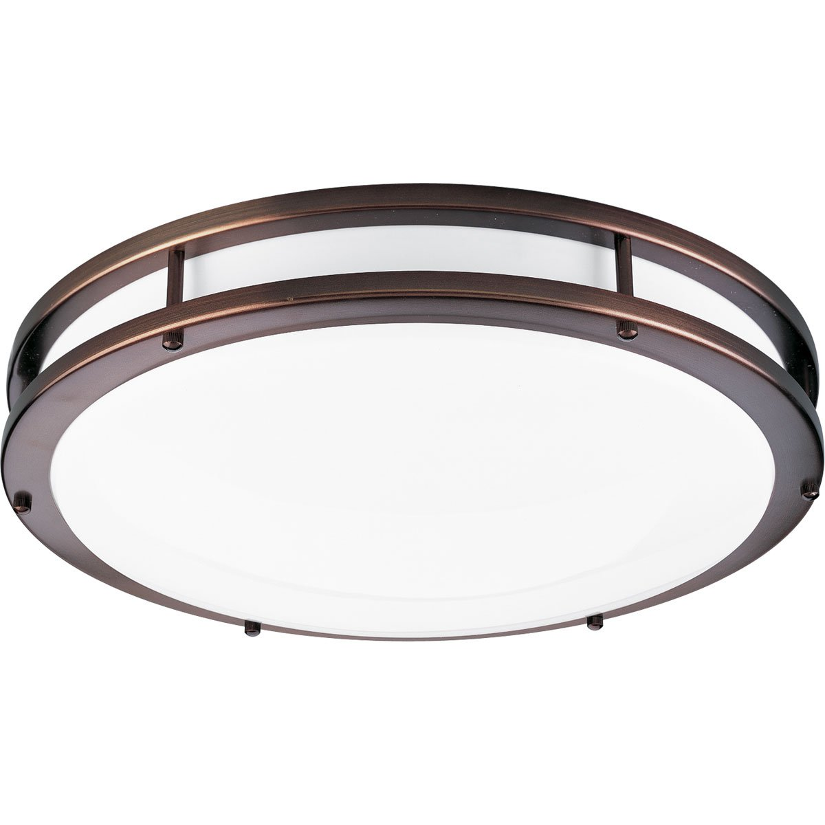 Progress lighting p7250 174ebwb round fluorescent with acrylic progress lighting p7250 174ebwb round fluorescent with acrylic shade and metal end caps urban bronze close to ceiling light fixtures amazon arubaitofo Image collections