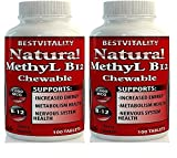 BestVitality Natural Vitamin B12 Chewable methylcobalamin(1000mcg) Made in USA-Free Guide (2)