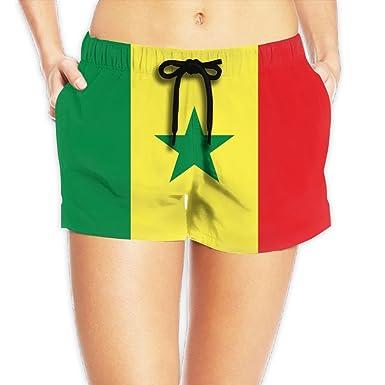 Amazon.com  Yongchuang Feng Flag Of Senegal Women s Cool Hot Pants ... 9a3ca77a15