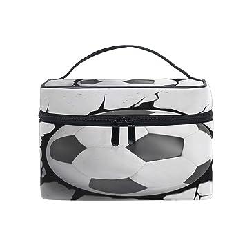 9304e852c1ac CUTEXL Cosmetic Bag Sport Soccer Football Crash ... - Amazon.com