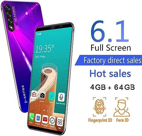 FLKENNEL Smartphone 4G, teléfono móvil, cámara Triple de 18MP + 13MP, 4GB + 64GB, Ranura Triple, batería de 4000mAh, Android 9.1 Pie Octa Core 6.1