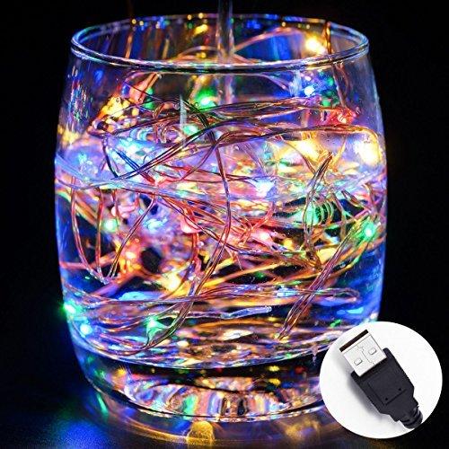170 opinioni per Solla 10 metri Stringa fata luce 100 LED USB IP67 impermeabile filo di rame