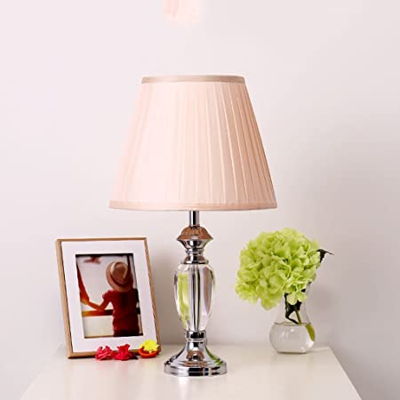 Bobe shop pink crystal table lamp bedroom living room table lamp bedside lamp