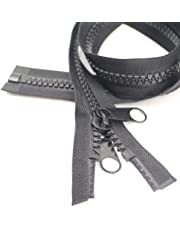 YaHoGa #10 separación cremalleras plasticos con doble Pestaña deslizante para coser, bolsa de dormir